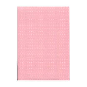 "Папір для дизайну з малюнком""Крапка""А4 21 * 31см№204774602,200 г/м2,двостор.,рожевий,Heyda"