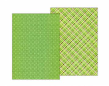 """Папір для дизайну з малюнком""""Клітинка""""А4 21x29,7см№9451773,300 г/м2,односторонній,зел,Heyda"""