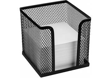 Бокс для паперу 100х100х100мм метал.,чорний №O36313-01/Optima/(6)