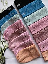 Демисезонный вязаный набор шапочка и снуд для девочки ручной работы.