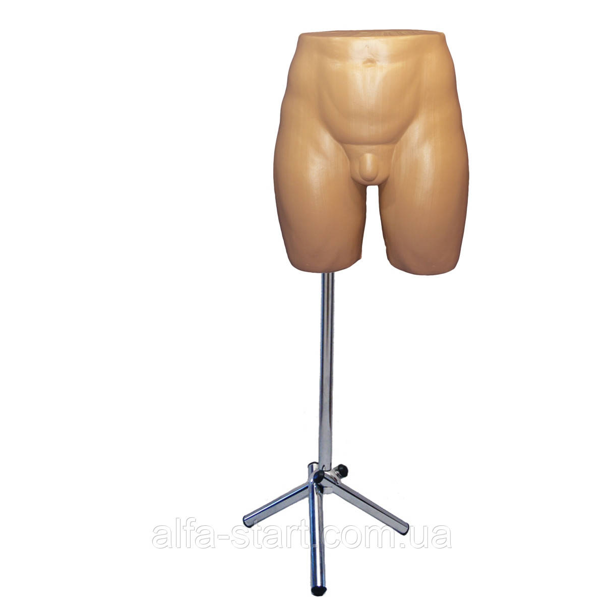 Манекен чоловічі ноги-стегна (сідниці) тілесного кольору на ніжці-підставці