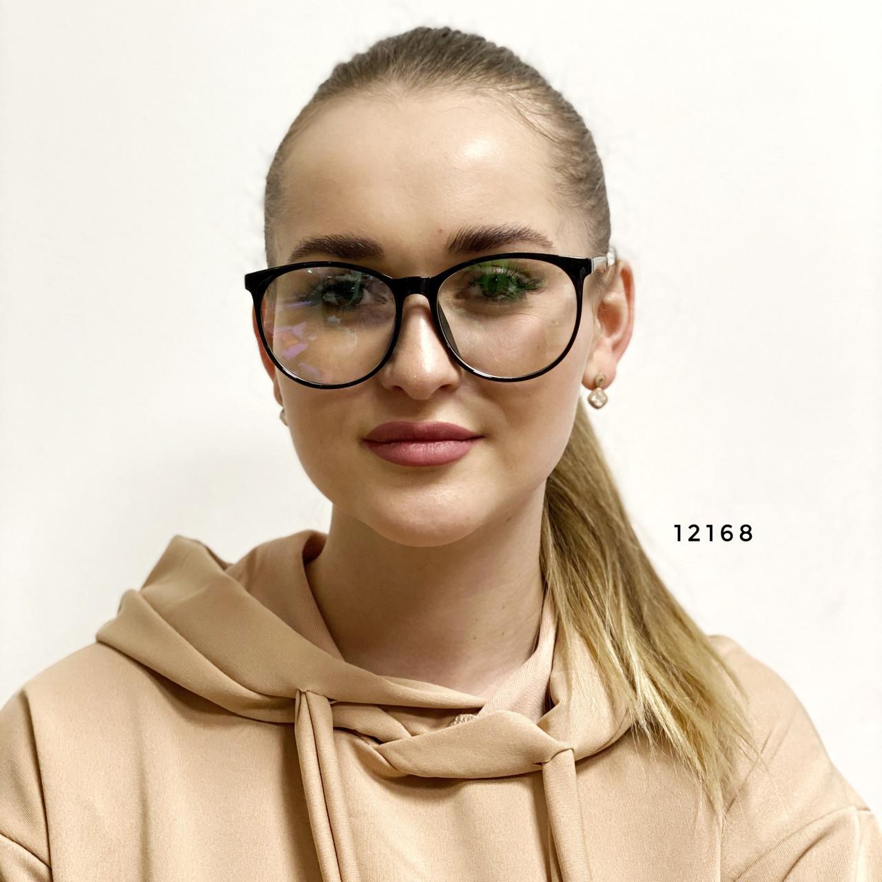 Имиджевые очки в черной оправе (антиблик)