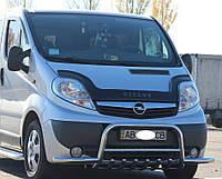 Opel Vivaro 2001-2015 гг. Кенгурятник с усами WT003-Plus (нерж.)