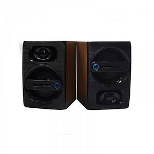 Комп'ютерні дерев'яні колонки акустика FT-108 Темно - коричневі