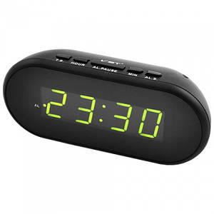Электронные проводные цифровые часы VST 712 Зелёная подсветка