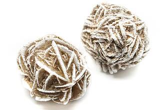 Роза бутон из гипса, натуральные кристаллы гипса на развес, Цена указана за 20 грамм, Цвет Бежевый