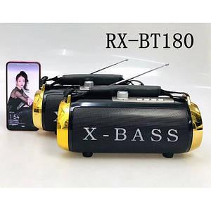 Портативна колонка, акустика GOLON RX-BT180S з сонячною панеллю Чорний