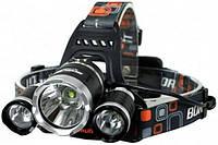 Мощный аккумуляторный яркий светодиодный налобный фонарь Bailong Industrial High Power
