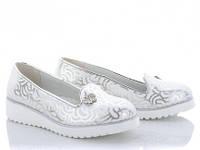 Детские туфли Clibee на девочку. Цвет белый. Размер 32-37.