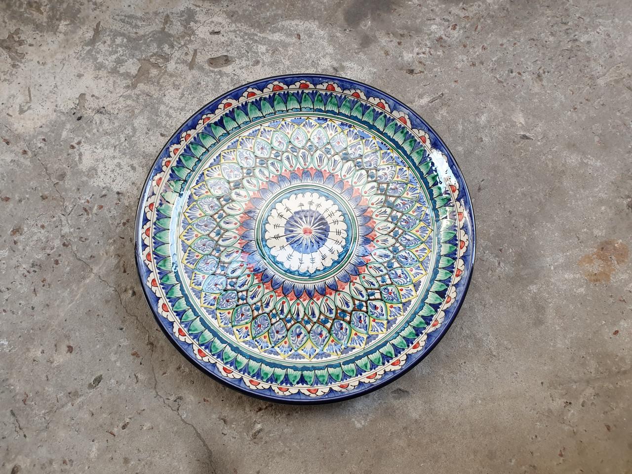 Ляган Риштан д38см узбекское блюдо для плова.