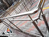 Огорожі пандуса з нержавіючої сталі AISI 201, поручень Ø38 мм, стійка Ø38 мм, 2 ригеля Ø16 мм, Рахів, фото 1