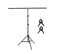 Стойка держатель для фона, фото-ворота, стойка с перекладиной 2.0х1,5м