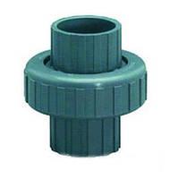 Муфта ПВХ ERA разборная клей-клей, диаметр 50 мм.