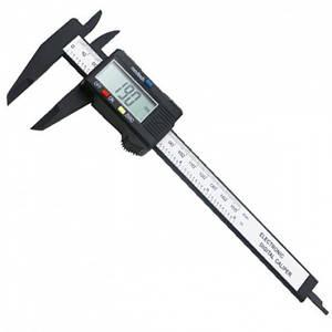 Електронний цифровий штангенциркуль мікрометр з LCD дисплеєм Пластмасовий