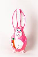"""Садова фігурка """"Заєць рожевий"""" висота=55см, фото 1"""