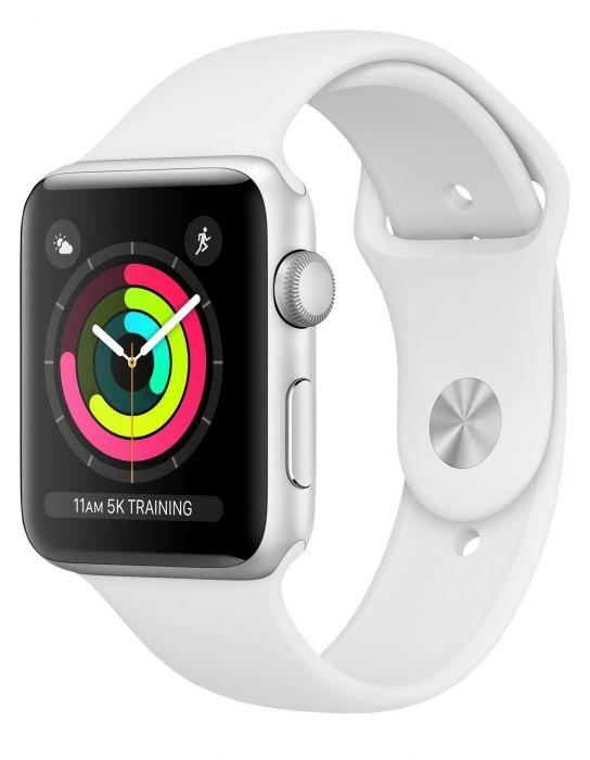 Смарт-часы Apple Watch S3 GPS 38mm Silver Aluminium Case with White Sport Band (MTEY2FS/A)