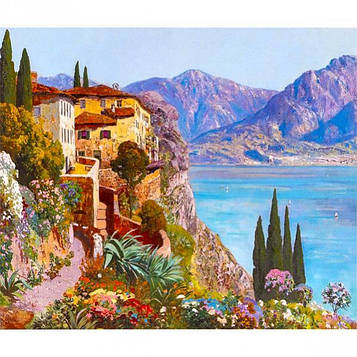 Картина по номерам 40х50 см DIY Дом на побережье (FX 30375)
