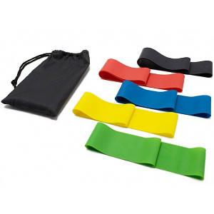 Резинки для фитнеса латексные Latex Band Power 25см Разноцветные 5 шт (par0208006)