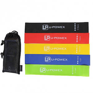 Набор резинок для фитнеса и йоги 5 шт U-Powex PRO 30х5 см Разноцветный (482657)
