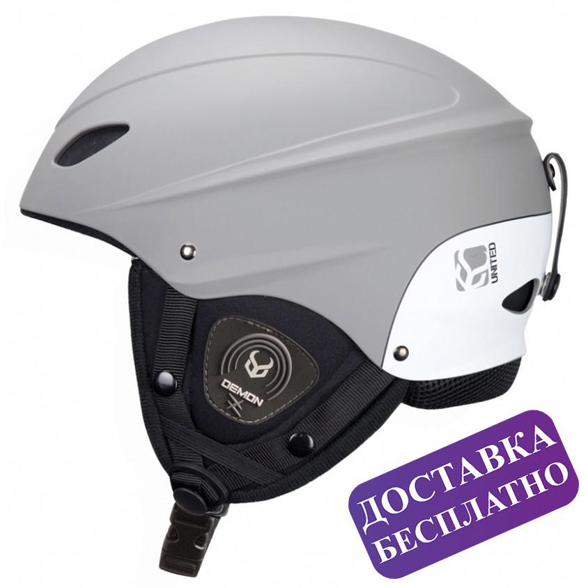 Музыкальный шлем Demon phantom helmet audio (серый)