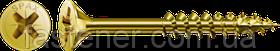 Саморіз SPAX з покр. YELLOX 4,0х80, часткова різьблення, потай, PZ2, 4CUT, упак. 200 шт., пр-під Німеччина