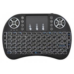 Бездротова російська клавіатура з тачпадом Rii mini i8+ з Підсвічуванням
