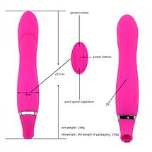 Вибратор двойной для клитора и точки G VacuPower массажер интимных зон USB, фото 2