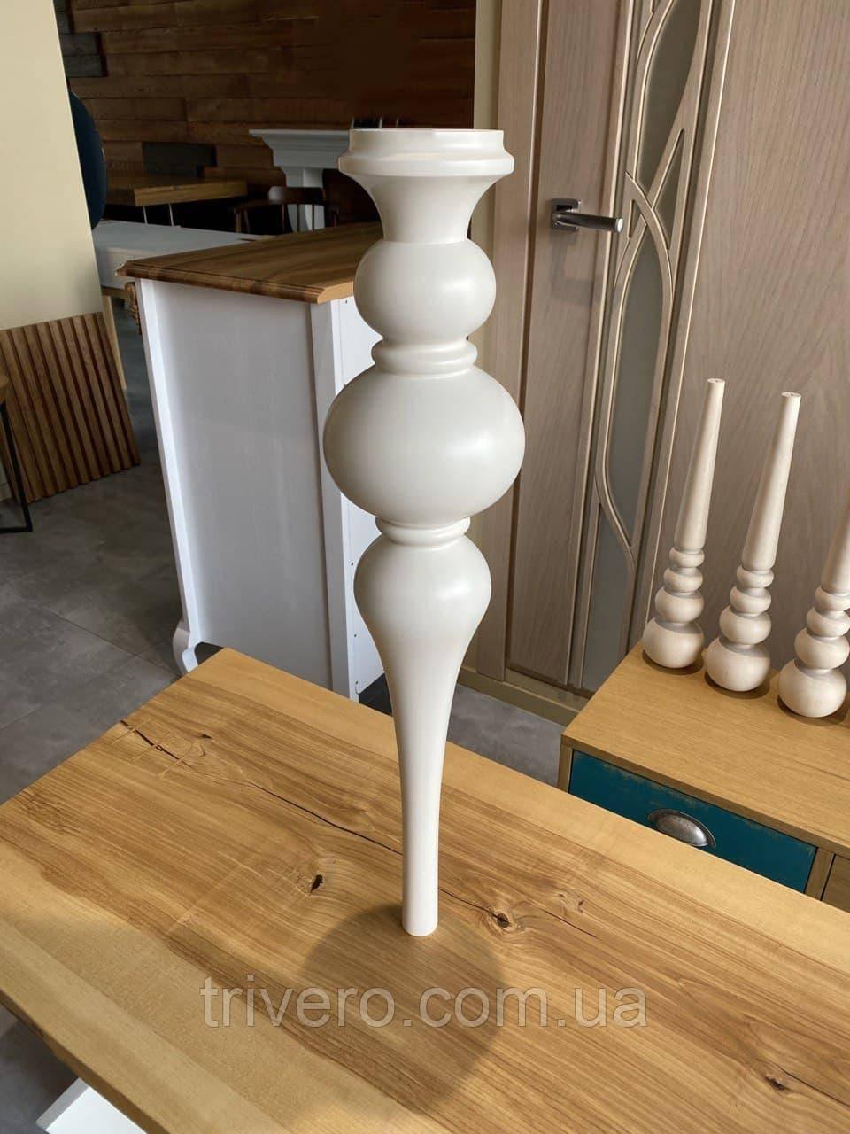 Меблеві ніжки і опори дерев'яні для столу H. 750 D. 160 /  КОД: Високі -3.2