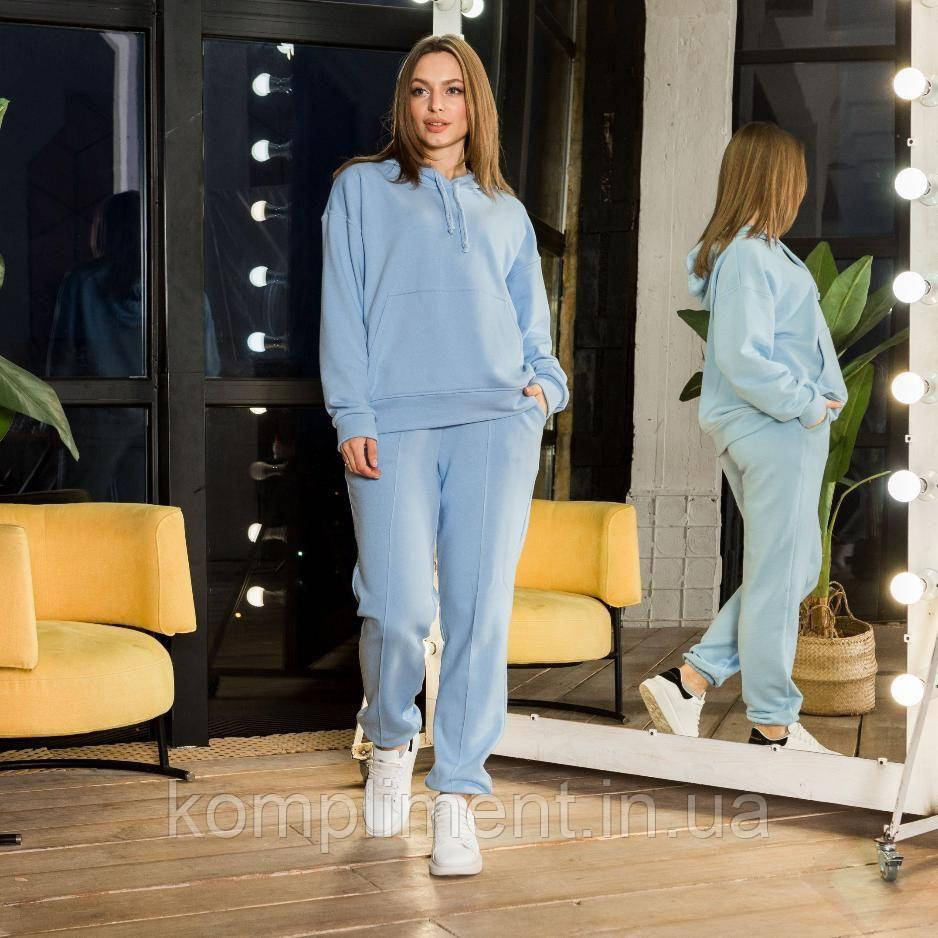 """Модний молодіжний жіночий спортивний костюм""""Мікаелла"""", блакитний"""