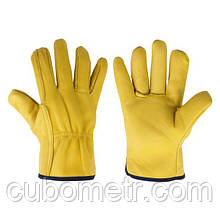 Рукавички захисні CORK з козячої шкіри, блістер, розмір 10,5, RWC105