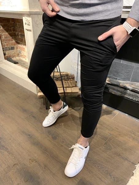 Чоловічі кежуал штани без манжетів (два кольори)