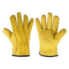 Рукавички захисні CORK TERM з козячої шкіри на підкладці, блістер, розмір 10,5, RWCT105