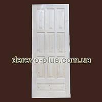 Двери из массива дерева 80см (глухие) f_0480