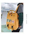 Сумка рюкзак для подростка школьный, водонепроницаемый желтый  в стиле Канкен Flame Horse, фото 4