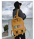 Сумка рюкзак для подростка школьный, водонепроницаемый желтый  в стиле Канкен Flame Horse, фото 5
