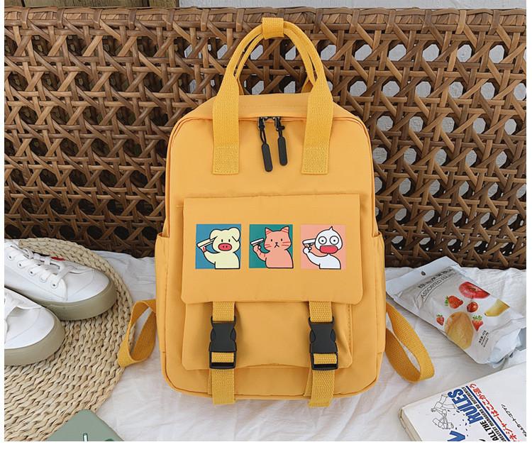 Сумка рюкзак для подростка школьный, водонепроницаемый желтый  в стиле Канкен Flame Horse