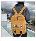 Сумка рюкзак для подростка школьный, водонепроницаемый желтый  в стиле Канкен Flame Horse, фото 6