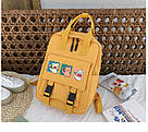 Сумка рюкзак для подростка школьный, водонепроницаемый желтый  в стиле Канкен Flame Horse, фото 2