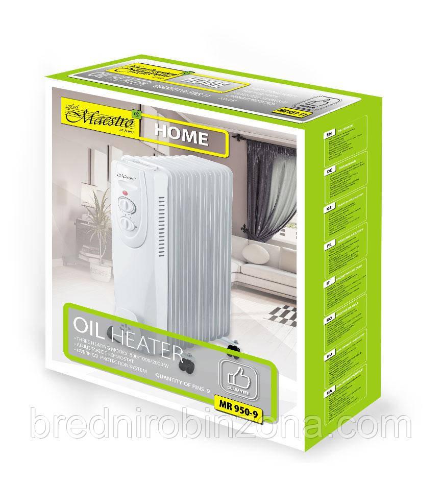 Масляний радіатор Maestro MR-950-9 | гарантійний обігрівач для дому | батарея |
