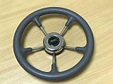 Рулевое колесо Pretech нержавейка 32 см серое, фото 8