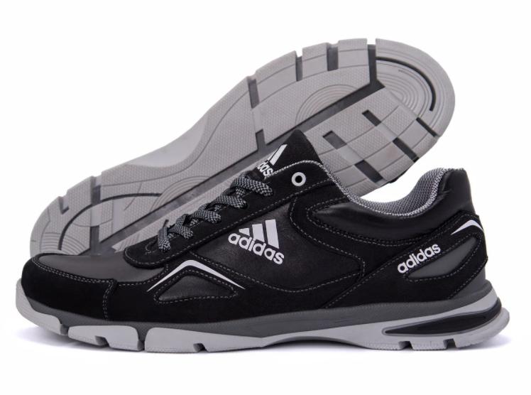 Кожаные мужские кроссовки от украинского производителя Adidas (реплика)