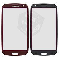 Защитное стекло корпуса для Samsung Galaxy S3 i9300, красный, оригинал