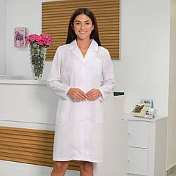 Женский медицинский халат Инна белый из рубашечной ткани 46 - 58