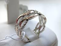 Серебряное кольцо с золотой пластинкой