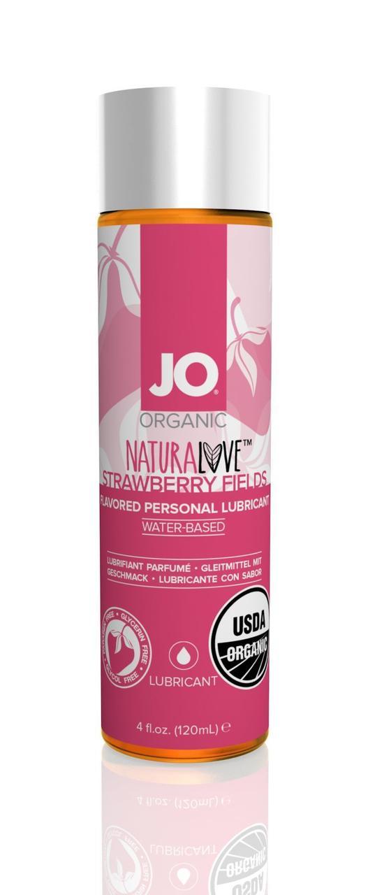 Смазка на водной основе System JO NATURALOVE Strawberry (120мл) с экстрактом ромашки и листьев агавы
