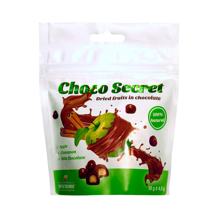 Конфеты из сухофруктов в шоколаде Choco Secret. Яблоко с корицей, 50 г