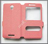 Розовый Silk SC чехол-книжка для смартфона Lenovo a5000, фото 7