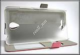 Розовый Silk SC чехол-книжка для смартфона Lenovo a5000, фото 2