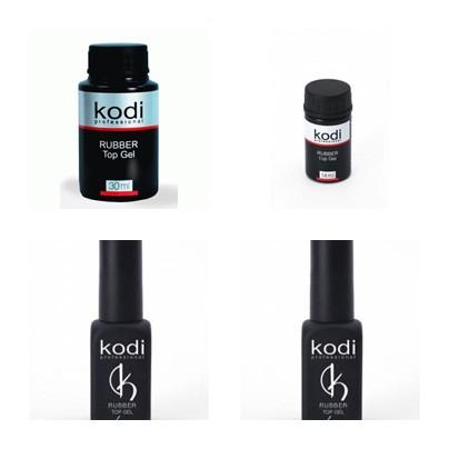 Гель-лак kodi professional, rubber top gel - каучуковый топ 8 мл,12 мл ,14 мл
