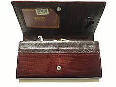 Кошелек кожаный женский бордовый лаковый с монетницей внутри Balisa В826-22 на кнопке, фото 2